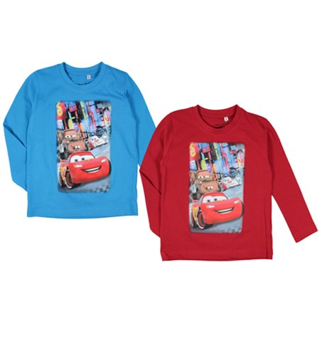 T-SHIRT CHLOPIECY DISNEY auta megajunior 2 szt