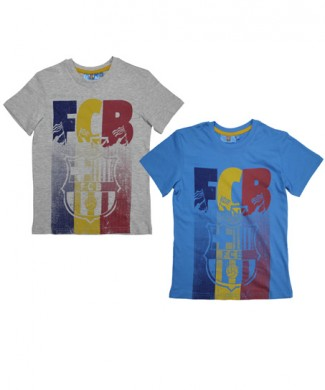 T-SHIRT CHLOPIECY FCB duza grafika megajunior