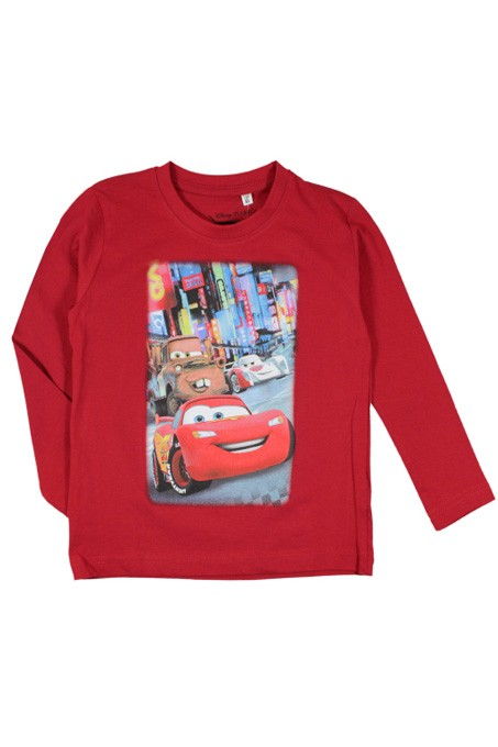 T-SHIRT CHLOPIECY DISNEY auta megajunior wisniowy