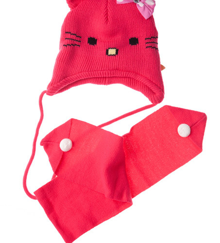 czapka i szalik komplet megajunior