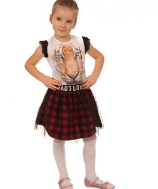 spodniczka dla dziewczynki bluzka tygrys megajunior