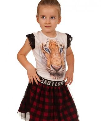 spodniczka dla dziewczynki bluzka tygrys megajunior_2
