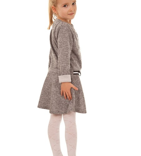 sukienka dla dziewczynki z misiem szary megajunior_2